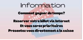 Information Réservation en ligne